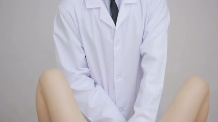 pacjent : Doctor gynecologist performing an examination Wideo