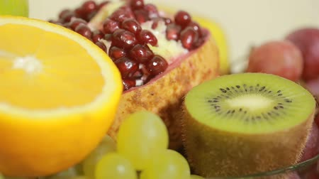 fruitarianism : close-up of fruit, concept of healthy lifestyle, diet.