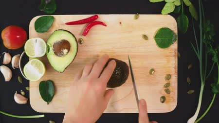 kaše : avocado. concept of healthy eating and healthy lifestyle. view from above. cooking avocado sandwiches.