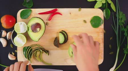 avocado : avocado. concept of healthy eating and healthy lifestyle. view from above. cooking avocado sandwiches.