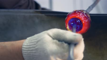 vazo : glassblower. craft manufacturing of glass products