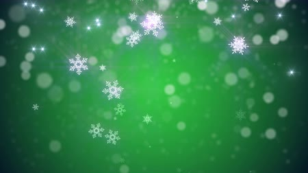neve : 4k Christmas, new year Loop background in Green color Vídeos