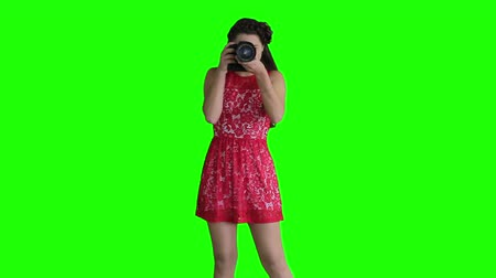surprised : Girl photographer shooting guides