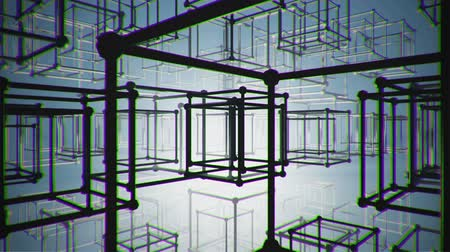 yanılsama : illusion abstract construction animation blueprint, box, cube