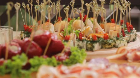 буфет : Delicious Canapes and Snacks at the Wedding Banquet