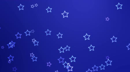 Поздравляю : White stars continuously fall against a blue background