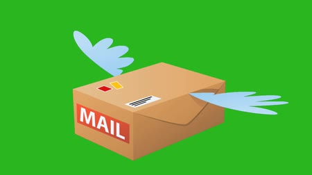 vízjel : air mail animation