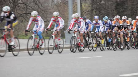 vyhlídkové : group of cyclists in action during a cycling tour