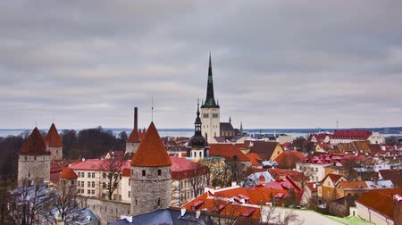 stare miasto : View of the old town. Tallinn, Estonia, Europe Wideo