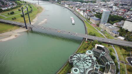 dusseldorf : View of Dusseldorf from height of birds flight