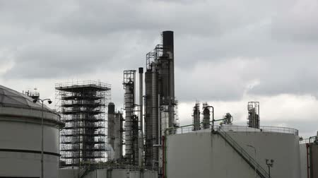 rurociąg : View of big oil refinery of a sky background