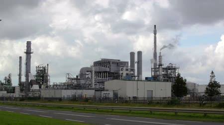 exterior : Big oil refinery, Rotterdam, Holland