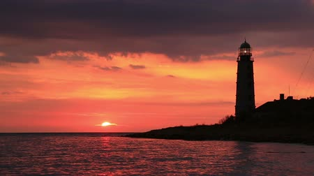 Beacon on a sunset, Sevastopol, the Crimea