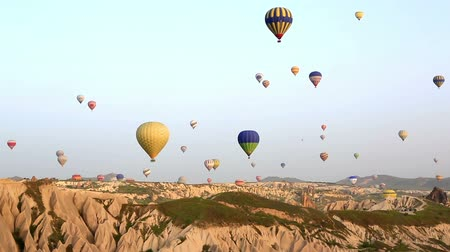 Cappadocia, Turkey - May, 18, 2015: The great tourist attraction of Cappadocia - balloon flight. Cappadocia is one of the best places to fly with hot air balloons