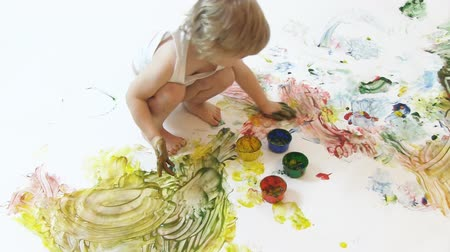 young painter Stock Footage