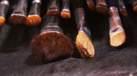 artistas : Cosmetic brushes on a table Vídeos