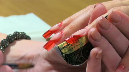 nehet : Manicure making. Nice manicured woman palms