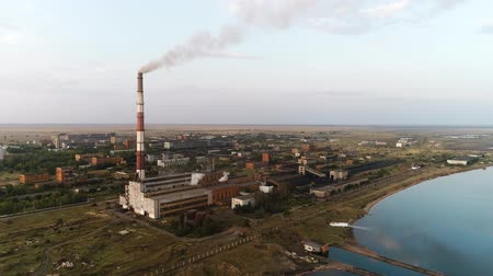 Aerial footage Scene Of Industrial Power Plant