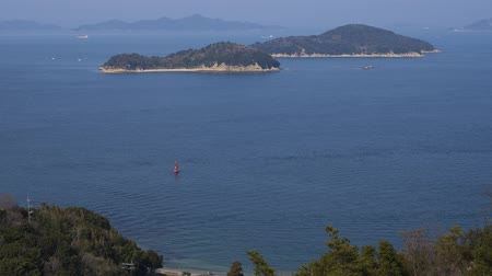 vnitrozemí : Seto Inland Sea where ships go and go. Timelapse