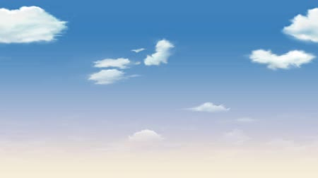 cena não urbana : Abstract view of clouds in the sky. White clouds floating in the blue sky. Nice soft summer sky.