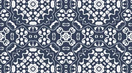 4K Kaleidoscopic video background loop animation. Modern abstract kaleidoscope motion design
