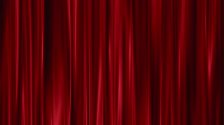 perdeler : Red Curtains open
