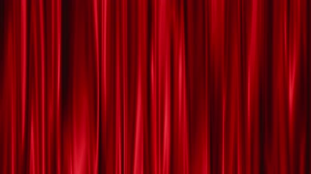 kinyit : Red Curtains open, white background