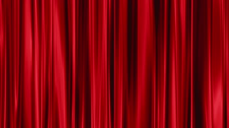 perdeler : Red Curtains open, green background