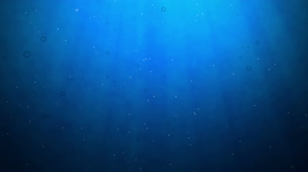 underwater video : Underwater Scene, Computer Generated, Loops seamless Stock Footage