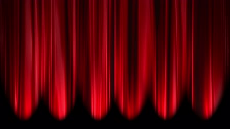 perdeler : Red Curtains open, white background