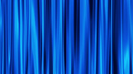 perdeler : Blue Curtains open, white background  Stok Video