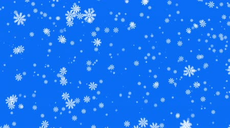 zimní : Snow on blue background, loop