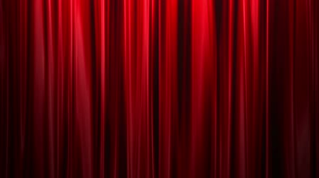 elegancia : Red Curtains open, white background