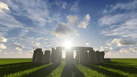 kamień : Beautiful sunrise timelapse at the Stonehenge