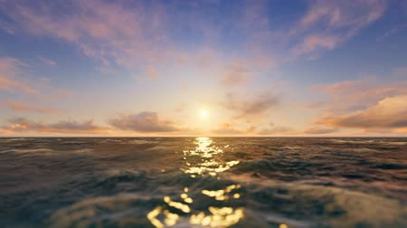 Средиземное море : Beautiful render of a sunset at the sea. The foreground was intentionally blurred to create realistic depth of field and an atmospheric look of sunlight reflections on the water.