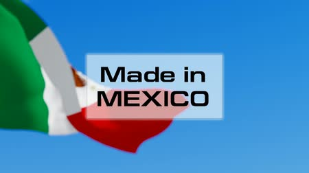známka : Made in Mexico. Mexican made. Product of Mexico concept
