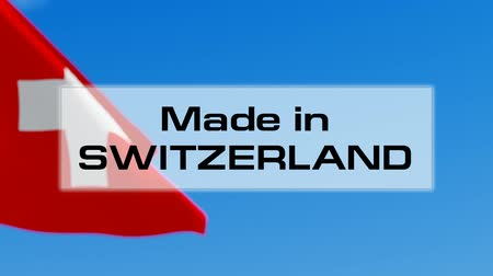švýcarský : Made in Switzerland. Swiss made. Product of Switzerland concept Dostupné videozáznamy