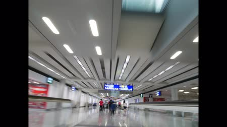 Time lapse of walking through Hong Kong International Airport