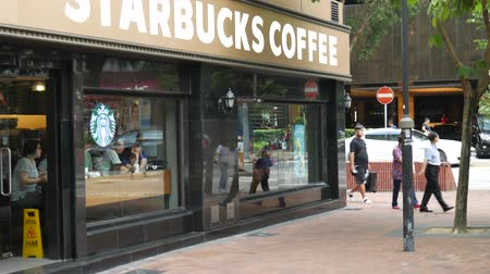 Hong Kong, Hong Kong S.A.R.-June 3, 2017:  view of Starbucks Coffee.