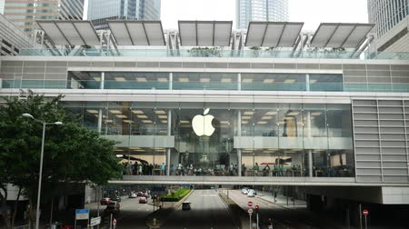 Hong Kong, Hong Kong S.A.R.-June 3, 2017:  The exterior of the Apple Store in Hong Kong.
