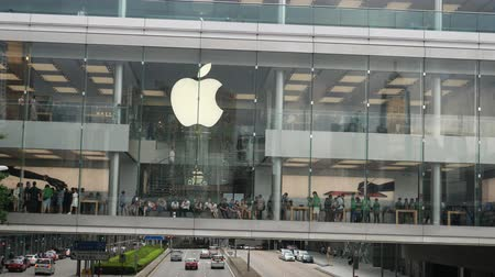 Hong Kong, Hong Kong SAR-3. Juni 2017: Das Äußere des Apple Store in Hong Kong. Videos