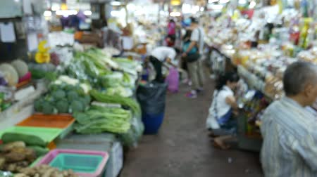 province : Chiang Mai, Thailand-October 4, 2015: View of a famous market, Warorot Market in Chiang Mai, Thailand Stock Footage