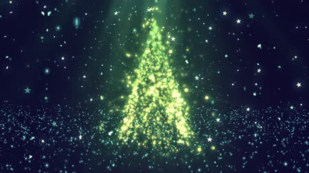 Рождественский бал : Christmas Tree Glitters 1 Loopable Background, A Full HD, 1920x1080 Pixels, seamlessly looped animation,  High Quality Quicktime Loopable animation works with all Editing Programs,  Simply Loop it for any duration Стоковые видеозаписи