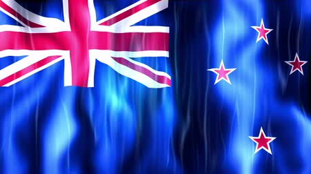 yeni zelanda : New Zealand Flag Animation, Ultra HD, 3840x2160 Pixels, Realistic Flag Animation, High Quality Quicktime animation Movie works with all Editing Programs, 20 Seconds Duration