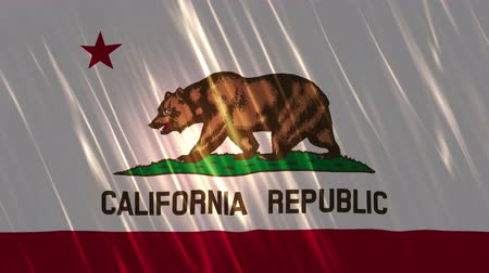 demokratický : California State Loopable Flag, Ultra HD, 3840x2160 Pixels, Seamlessly Loopable Flag Animation Works with all Editing Programs Simply Loop it for any duration