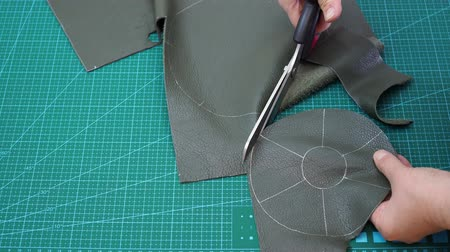 workshop for making leather bag for jewelry