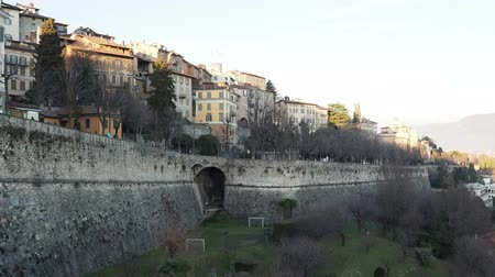 Venetian Walls of St. Andrea and the Lower Town of Bergamo city