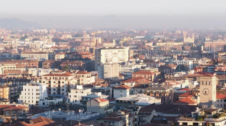 panoramic view of the city of Bergamo city in Bergamo