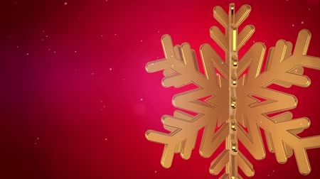 holidays : Big Christmas Snowflake With Snow Particles On Blue Background.