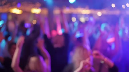 atividades : Dancing in Nightclub, out of focus Stock Footage